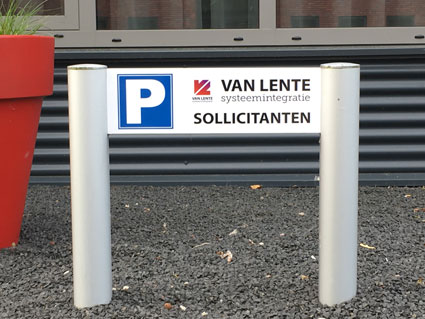 VIP sollicitanten parkeerplaats bij Van Lente in Deventer.