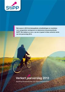 VerkortJaarverslagSTiPP2013-1