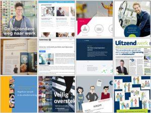 Voorbeelden van teksten en tekstproducten in het portfolio.